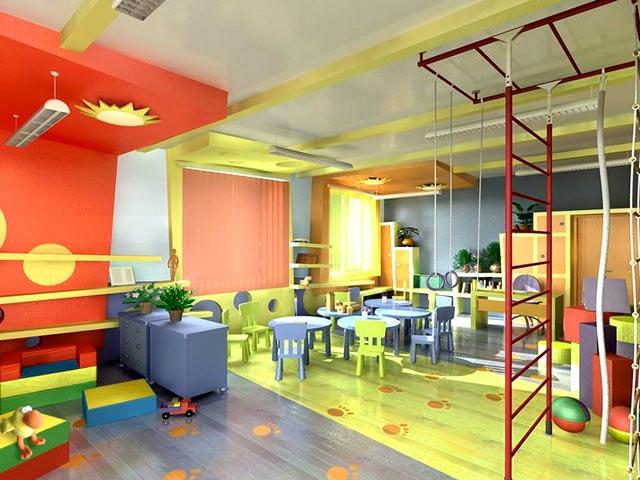 Дизайн столовой в детском саду Пышный омлет